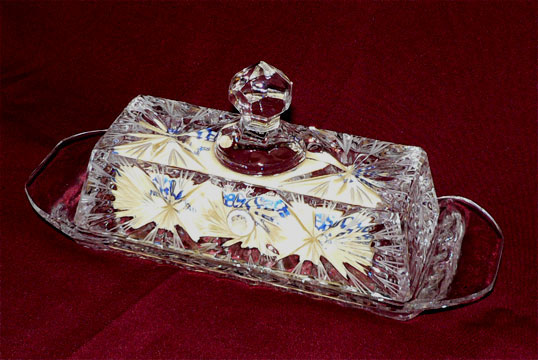 Return To Standard Time >> Exquisite Lead Crystal butterdish for wedding gifts or personal enjoyment at Kann Imports in ...