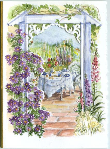 Carol S Garden: Garden Gate Well Wishes Card By Carol's Rose Garden At